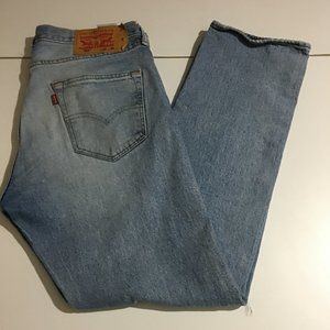 Levi's 501 Mens Jeans Button Fly 32x30 Distressed
